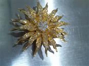 Gold-Diamond Brooch 142 Diamonds 1.42 Carat T.W. 14K Yellow Gold 14.3g